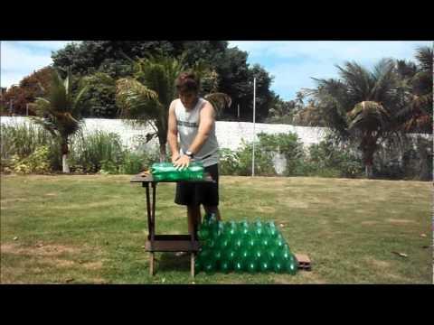 Como fazer um puff de garrafa pet