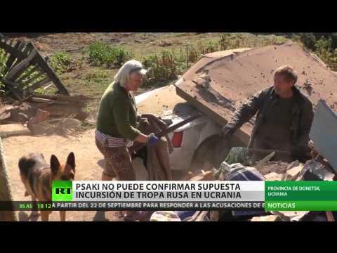 Psaki no puede confirmar supuesta incursión de tropas rusas en Ucrania