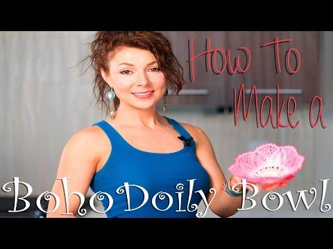 How to Make a Boho Doily Bowl