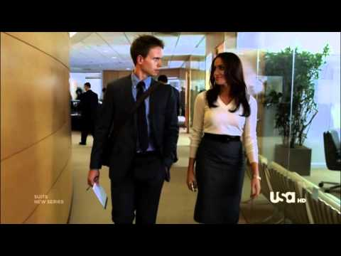 "The Suits - Mike and Rachel Scene 1.01 ""Let's continue with our tour"""