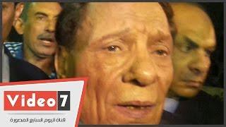 """بالفيديو.. عادل إمام فى عزاء سعيد صالح: """"فقدت صديق العمر"""""""