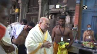 तमिलनाडुः कन्याकुमारी के सुचिंद्रम मंदिर में गृह मंत्री अमित शाह ने की पूजा