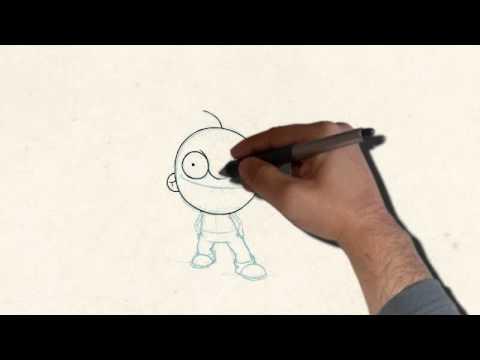 Как сделать из рисованную