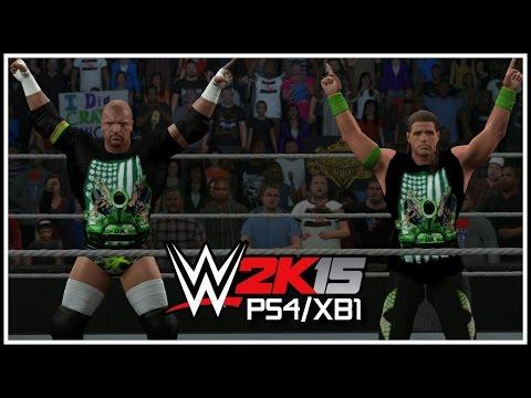 WWE 2K15 PS4/XB1 - DX Entrance & Tag Team Finisher! (WWE 2K15 Superstar Studio)