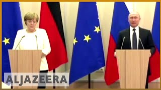 🇩🇪 🇷🇺 Putin to have talks with Angela Merkel in Germany | Al Jazeera English - ALJAZEERAENGLISH