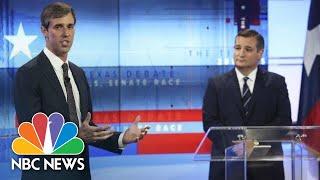 Senator Ted Cruz, Beto O'Rourke Trade Barbs In Senate Debate | NBC News - NBCNEWS