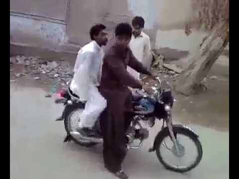 Pakistani funny bike stunt fails