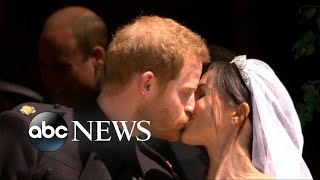 Harry, Markle take their first kiss as a married couple - ABCNEWS