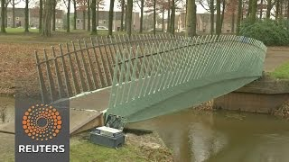 "Dutch ""biobridge"" made from hemp and flax fibres - REUTERSVIDEO"