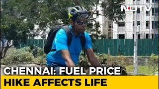 Rise In Fuel Prices Prompts Many To Cycle To Work, Take Trains In Chennai - NDTV