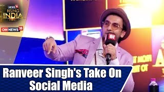 Ranveer Singh's Take On Social Media | I Know A Lot Of Fans: Ranveer | #News18RisingIndia - IBNLIVE