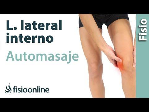 Auto-masaje para el esguince de ligamento lateral interno.