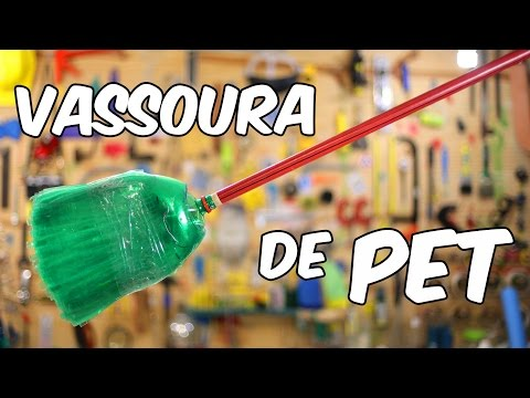 Como fazer vassoura de garrafa PET