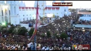Vailankanni Festival commences with the hoisting of the flag