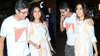 Swara Bhasker spotted at the airport with boyfriend Himanshu Sharma - TIMESOFINDIACHANNEL