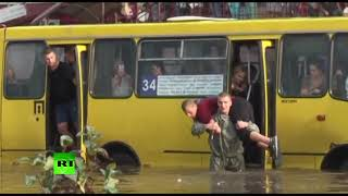 RAW: Lvov flooded after heavy rains hit western Ukraine - RUSSIATODAY