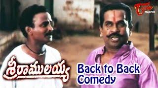 Sri Ramulayya  Movie Comedy Scenes || Back 2 Back || Mohan Babu || Soundarya || #Brahmanandam - TELUGUONE