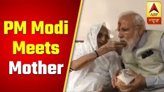 ABP News exclusive: PM Modi meets mother to seek blessings before casting vote - ABPNEWSTV