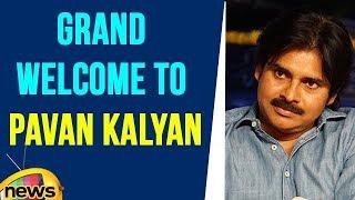 Pawan kalyan Reaches Hyderabad Gets Grand Welcome At Shamshabad Airport | Mango News - MANGONEWS