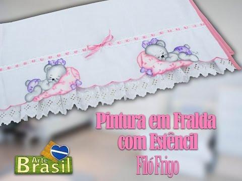Programa Arte Brasil - 19/01/2015 - Filó Frigo - Pintura em Fralda com Estêncil