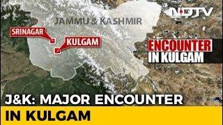 3 Terrorists Shot Dead In Kashmir's Kulgam, Encounter Underway - NDTV