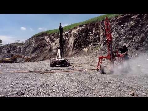 PERFORACIÓN PARA VOLADURA con Máquina Perforadora Stenuick MD2580