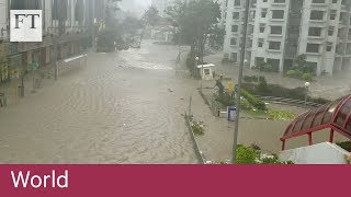 Super Typhoon Mangkhut smashes into Southern China - FINANCIALTIMESVIDEOS