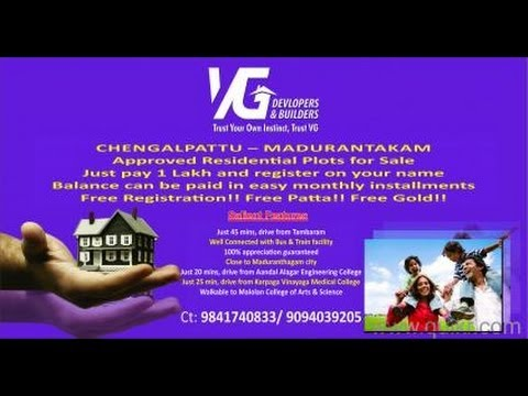 VG Devlopers - Property for Sale, DTCP Approved Plots, Residential Property, Real Estate