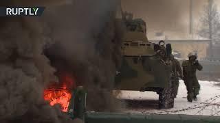 Combat engineers put assault suit to test in Russia - RUSSIATODAY