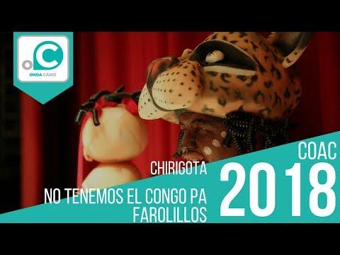 Sesión de Cuartos de final, la agrupación No tenemo el congo pa farolillos actúa hoy en la modalidad de Chirigotas.