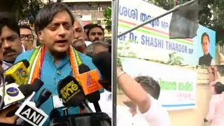 Office attacked by BJP Vandals: Shashi Tharoor - NEWSXLIVE