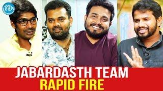 Jabardasth Team Rapid Fire | Hyper Aadi | Getup Srinu | Auto Ramprasad | Dhanraj | Dream Movies - IDREAMMOVIES
