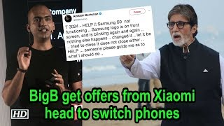 BigB get offers from Xiaomi head to switch phones - IANSLIVE