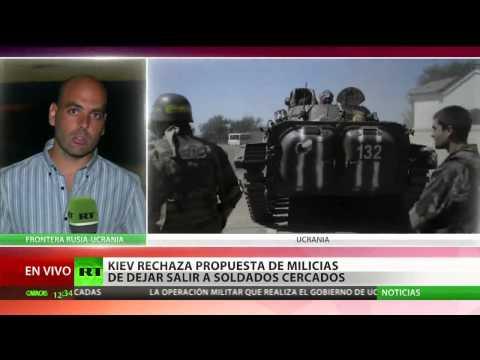 Autodefensas aceptan dejar salir a soldados ucranianos cercados
