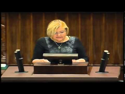 Krystyna Poślednia - wystąpienie z 08 maja 2013 r.