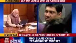 Law Minister seeks to push cases on tainted netas - NEWSXLIVE