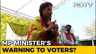 Row Over Madhya Pradesh Minister Yashodhara Raje Scindia's Message To Voters - NDTV