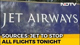 Jet To Suspend All Flights Tonight, Fails To Get Emergency Funds: Reports - NDTV