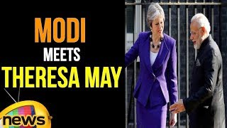 PM Modi Meets UK Prime Minister Theresa May | Mango News - MANGONEWS