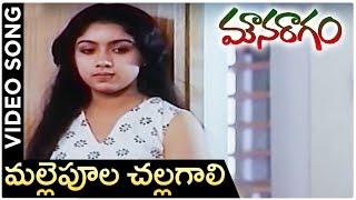 Mouna Ragam Telugu Movie Song | Mallepoola Challagali | Revathi | Mohan | |layaraja - RAJSHRITELUGU
