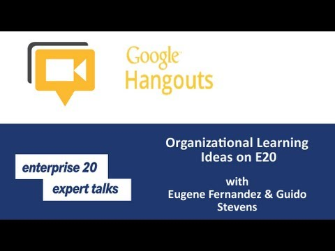 #e20s Expert Talk: Organizational Learning Ideas on E20 with Eugene Fernandez & Guido Stevens