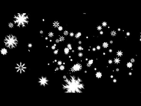 Snow Flakes Falling Loop with transparency Full HD
