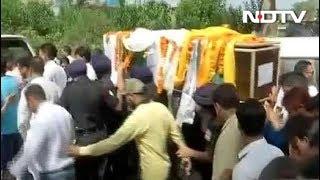 आतंकियों से मुठभेड़ में शहीद जवान विकास गुरुंग दी गई अंतिम विदाई - NDTVINDIA