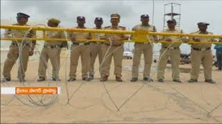 High Security at Sri Ram Sagar Project As Farmers Protest For Water Release | Nizamabad | iNews - INEWS