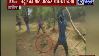 राजस्थान के भीलवाड़ा गांव में गांववालों ने तेंदुए को पीट-पीटकर अधमरा किया - ITVNEWSINDIA