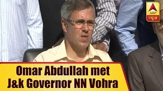 National Conference's Omar Abdullah Met Jammu And Kashmir Governor NN Vohra   ABP News - ABPNEWSTV