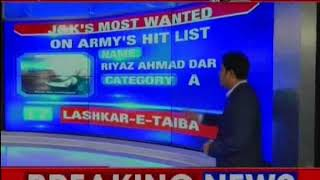 NewsX accesses the details of the 21 most wanted terrorists operating in Jammu and Kashmir - NEWSXLIVE