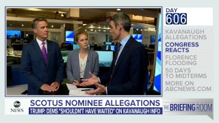 'Briefing Room': Kavanaugh allegations, Hurricane Florence latest, 50 days to midterms | ABC News - ABCNEWS