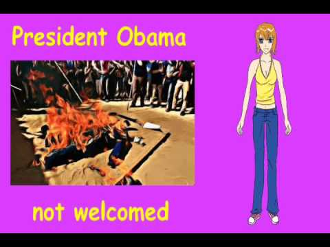 Palestinians set fire to Obama pictures