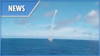 USS Milius and USS Chancellorsville launch SM2 missiles - THESUNNEWSPAPER